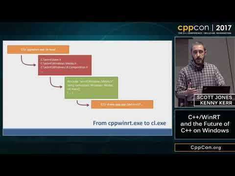 "CppCon 2017: Scott Jones & Kenny Kerr  ""C++/WinRT and the Future of C++ on Windows"""