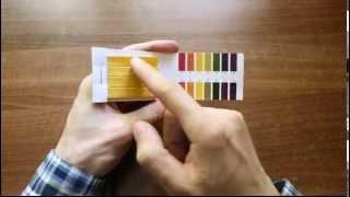 Лакмусовий папір, визначення рівня рн (кислотності)
