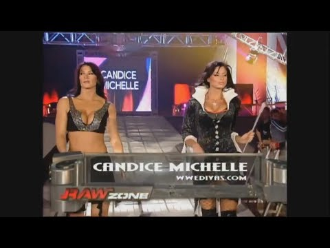 11-02-05 | Candice Michelle with Victoria vs Mickie James with Trish Stratus | WWE Raw England