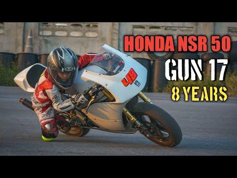 GUN17 นักบิดฟันน้ำนม 8 years กับ HONDA NSR 50 #Honda #NSR