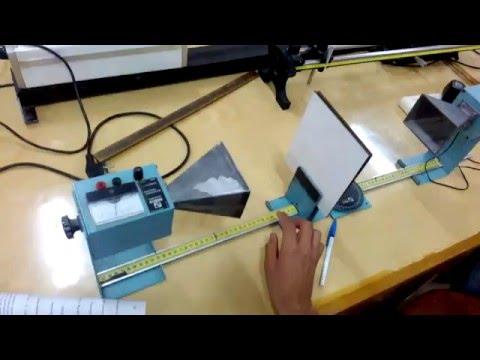 إيجاد الطول المولى لموجات الميكرويف (شرح احمد عبد الرحيم) (10) fabry perot interferometer