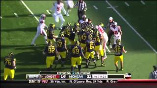 Ohio State--Michigan Fight, 2013 | ELEVENWARRIORS.COM