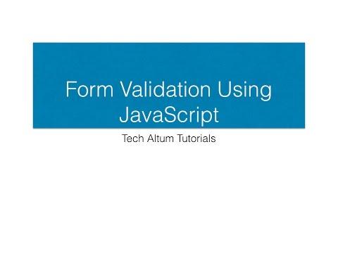 Validating Form Input