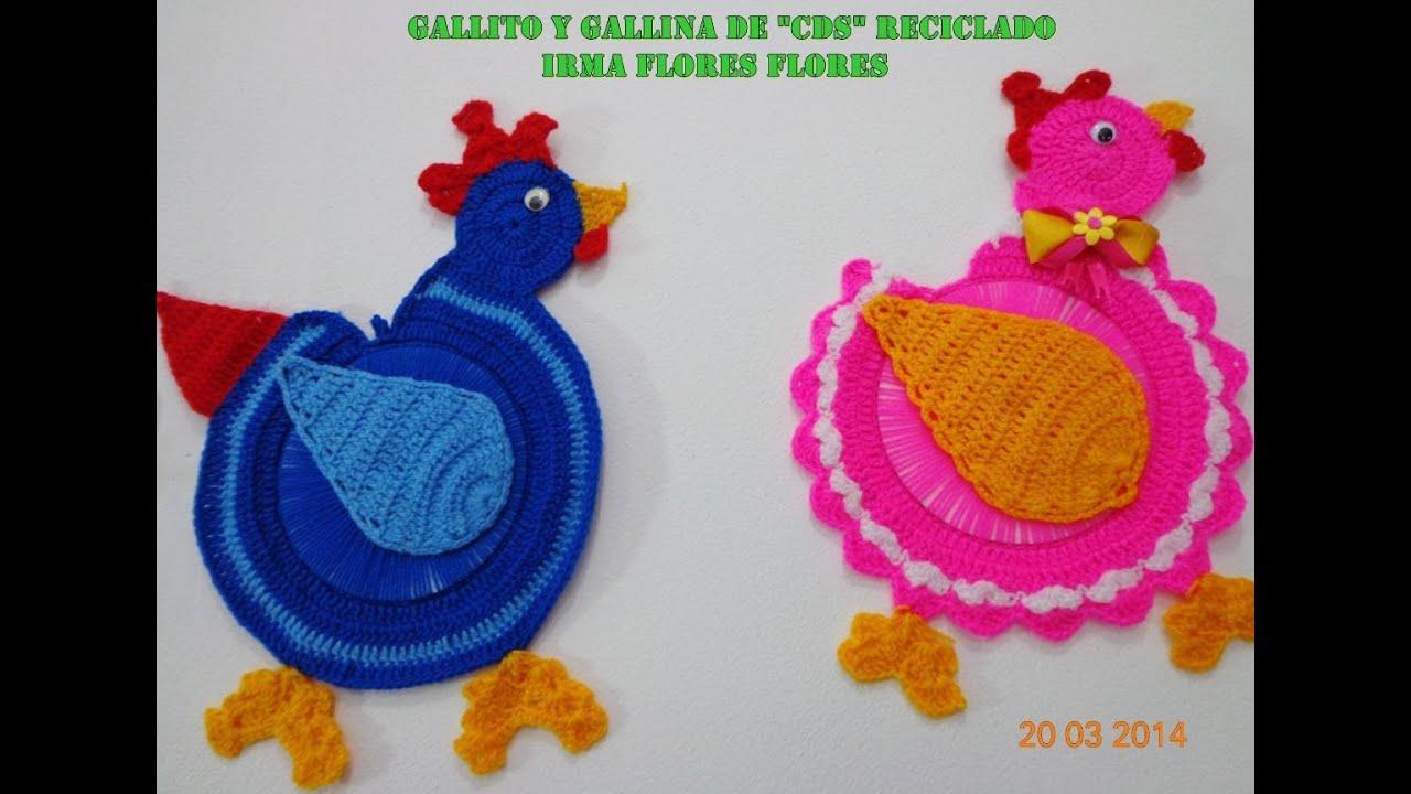 GALLINA TEJIDA A CROCHET DE \