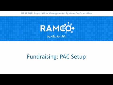 Fundraising - PAC Setup
