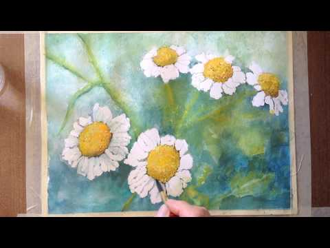 Daisies watercolor tutorial a step by step lesson youtube for Watercolor tutorials step by step