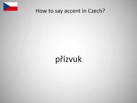 How to say accent in Czech?