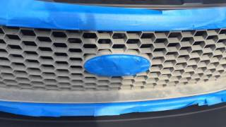 Painting the grill of my Ford F-150