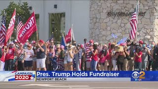 Thousands Of Trump Supporters Line Streets In Newport Beach To Welcome The President