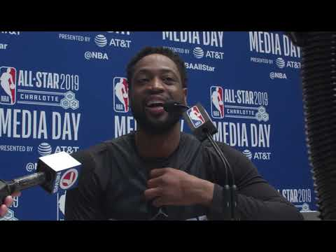 NBA ALL-STAR MEDIA DAY: Miami Heat legend Dwyane Wade 02/16/2019