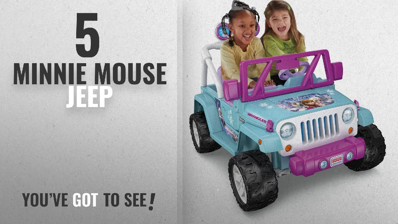 e7d8982835912 Top 10 Minnie Mouse Jeep  2018   Power Wheels Disney Frozen Jeep ...