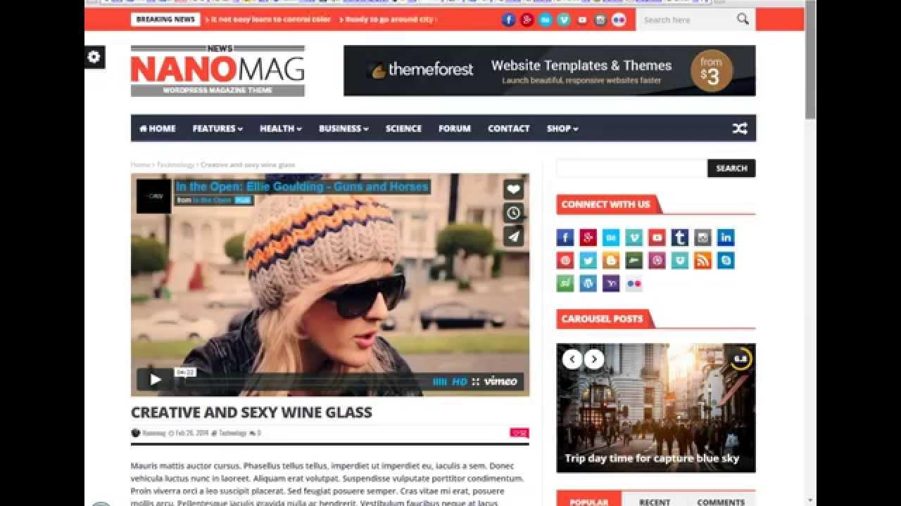 nanomag theme wordpress download free nanomag responsive