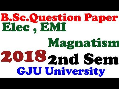 B.Sc.Electricity, EMI , Magnatism  Question Paper Download HD Image