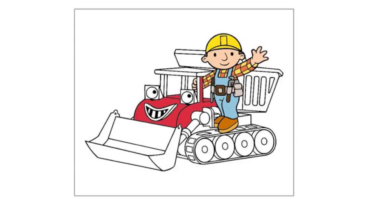 como dibujar a Bob el Constructor - YouTube