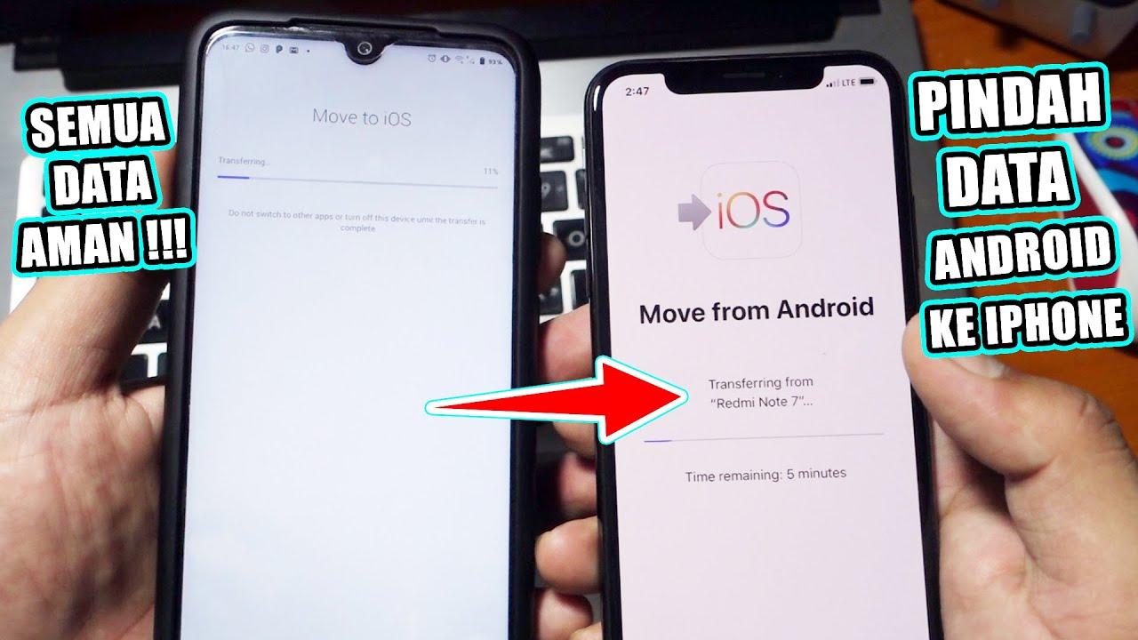 Cara Mudah Pindah Data dari Android ke iPhone  Semua Data Aman !!!