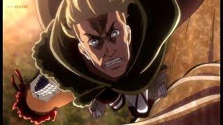 Erwin VS Collosal Titan Smith Saves Eren Epic Moment