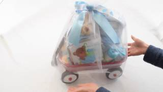 Personalized It's a Boy! Baby Boy Wagon Gift Basket