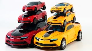 Transformers 4 AOE Bumblebee VS Stinger Oversized Voyager Deluxe Class Camaro Vehicle Robot Car Toys
