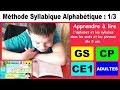 Méthode syllabique alphabétique et exercices CP - CE1 : fiche a à f # 1