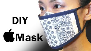 DIY Apple Mask PDF Printable Pattern Breathable Face Mask Sewing Tutorial