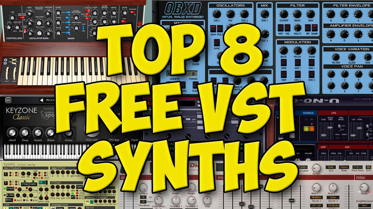 TOP 8 Free VST Synths | 2019 | OBXD Model Mini Tyrell N6 Synth1 SQ8L | Funk  / Disco Style