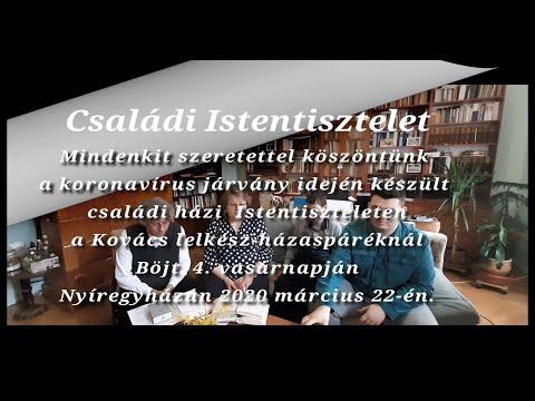 2020.03.22. Családi házi Istentisztelet a Kovács lelkész-házaspáréknál
