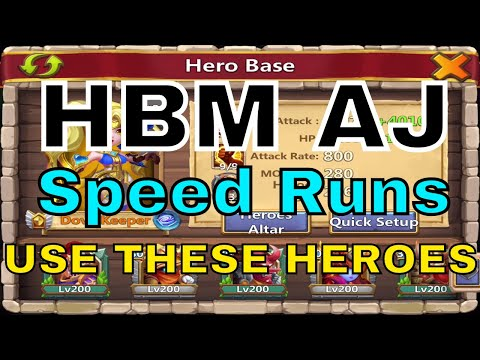 Castle Clash HBM AJ Speed Run Team