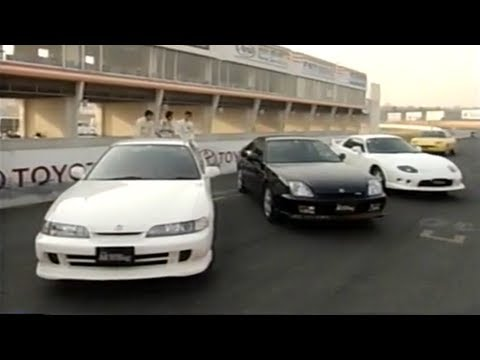 [ENG CC] FF Sports cars battle - Integra Type R, FTO R, Prelude S, Fiat Coupe in Tsukuba 1997 ...