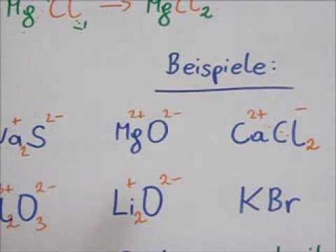 Ionenbindung von MgCl2,
