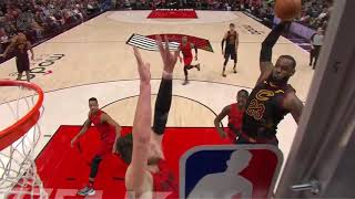 LeBron James Baptizes Jusuf Nurkic with Dunk of the Year Candidate