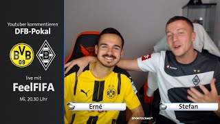 Erné und Stefan von FeelFIFA kommentieren am Mittwochabend live Dortmund gegen Gladbach   Sportschau