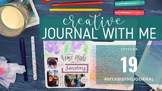 CREATIVE JOURNALING SESSION // Journal With Me 19 // Traveler's Notebook