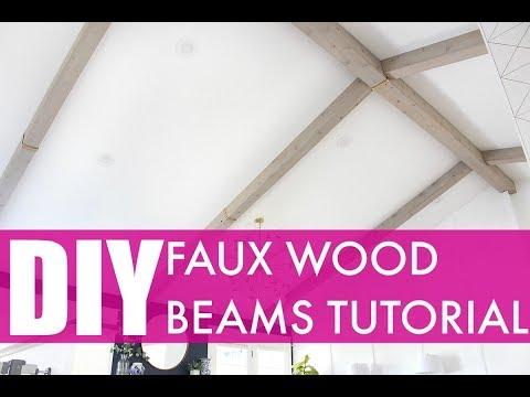 DIY Faux Wood Beams Tutorial