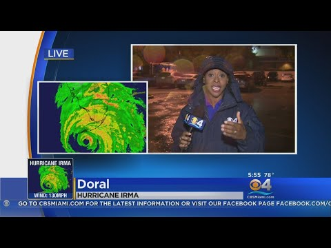 CBS4 Reporter Talks After Almost Getting Knocked Off Her Feet In Hurricane Irma
