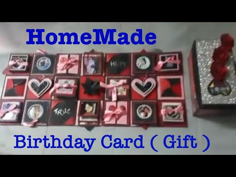 Endless explotion box card for birthday