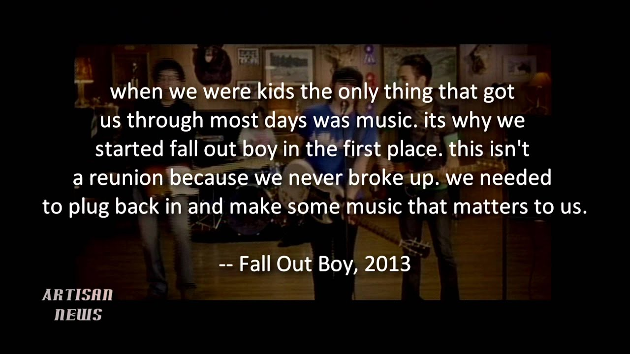 Fall Out Boy Wallpaper Save Rock And Roll Fall Out Boy Reunites Looks To Save Rock And Roll Youtube