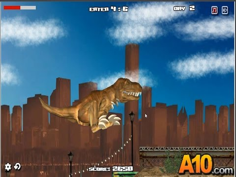 Life-Size GIANT T-Rex Dinosaur Chases Park Ranger Aaron Jurassic Adventure w Dino Toys Kids Video