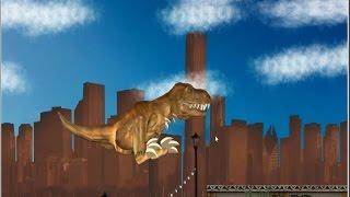 life size giant t rex dinosaur chases park ranger aaron jurassic adventure w dino toys kids video