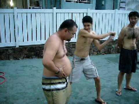 water balloon vs. human belly