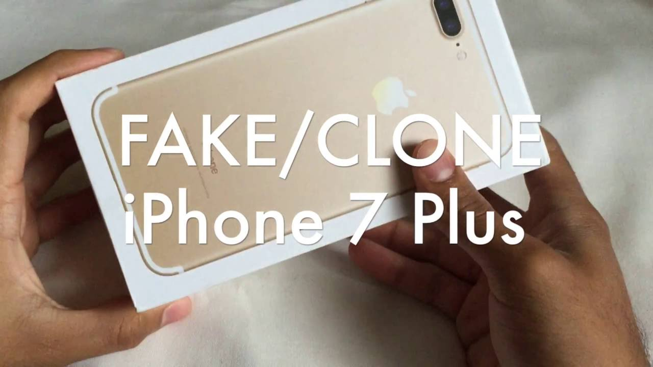 $150 Unlocked FAKE CLONE iPhone 7 Plus Unboxing and Review - Replica -  Knock Off