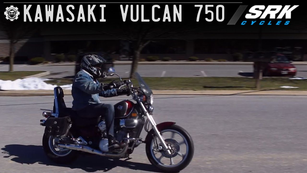 kawasaki vulcan 750 test drive - youtube