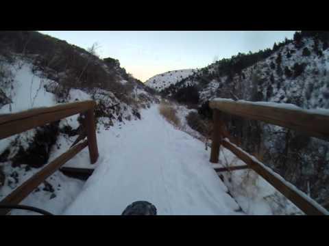 Fat Biking the Apex Trail in Golden, Colorado