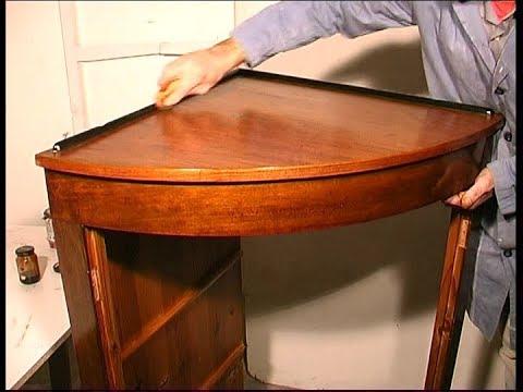 Como restaurar un mueble rinconera estilo imperio youtube - Mueble rinconera ...