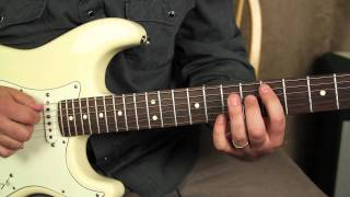 Repeat youtube video Red Hot Chili Peppers - Can't Stop - How to play on Guitar - Guitar Lessons Frusciante Fender