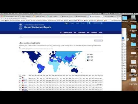 How to use the International Human Development Indicators web resource
