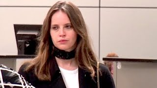 Felicity Jones Arrives Completely EXHAUSTED At LAX