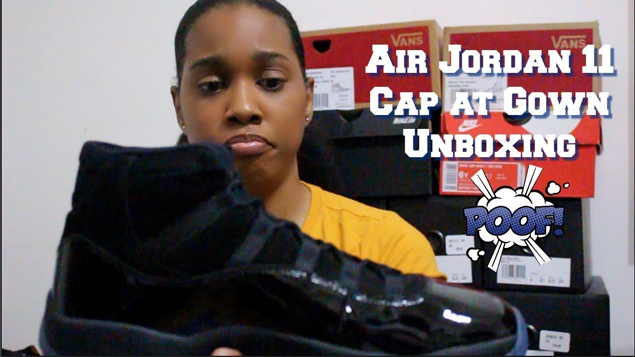 7c2f63d514a Air Jordan 11 Cap and Gown Unboxing - YouTube