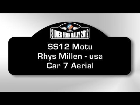 Motu Aerial Car 7 Millen - Silver Fern Rally 2012