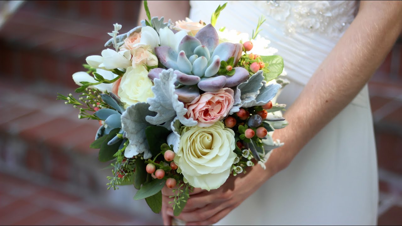 Creating My First Wedding Bouquet - YouTube