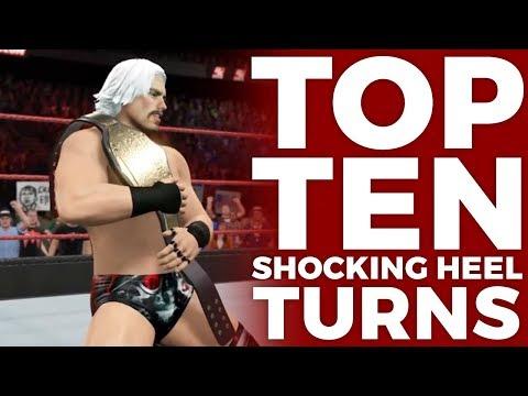 Top 10 SHOCKING Heel Turns - FaM Top 10 (WWE 2K Games)